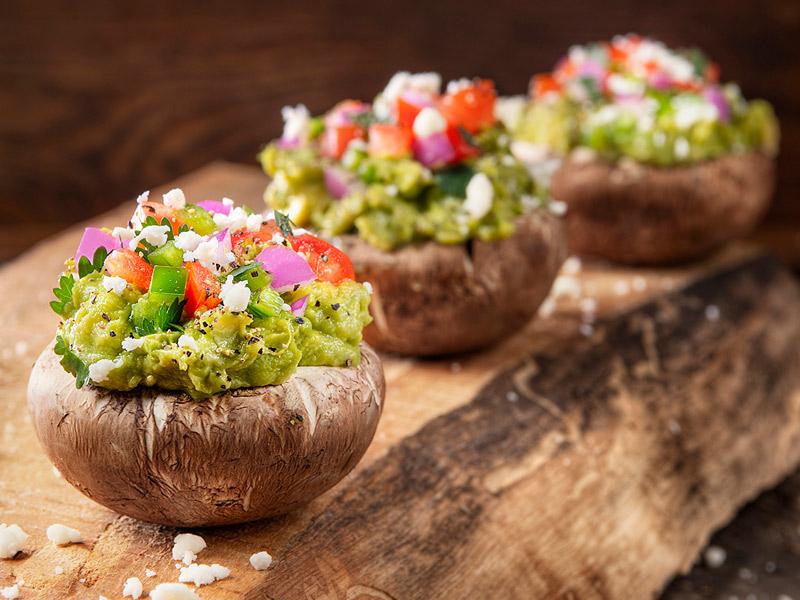 Guacamole Stuffed Mushrooms   Recipes   ¡Yo Quiero! Brands
