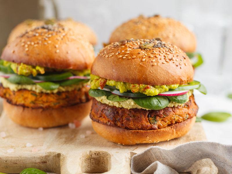 Easy Sweet Potato Veggie Burgers with Guacamole | ¡Yo Quiero! Brands