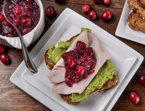 Turkey Avocado Toast with Cranberry Sauce