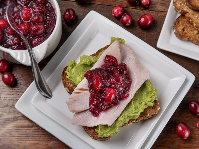 Turkey Avocado Toast with Cranberry Sauce | Love Your Leftovers | ¡Yo Quiero!™️ Brands
