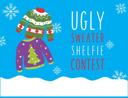 #UglySweaterShelfie Contest