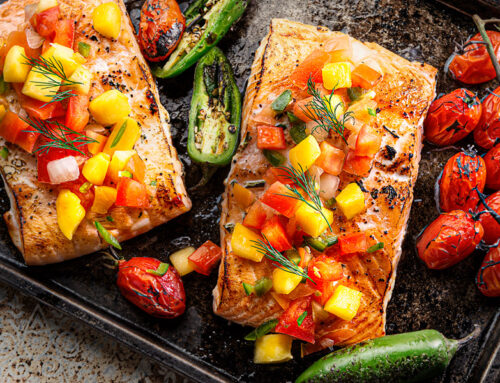 Baked Salmon With Mango Salsa